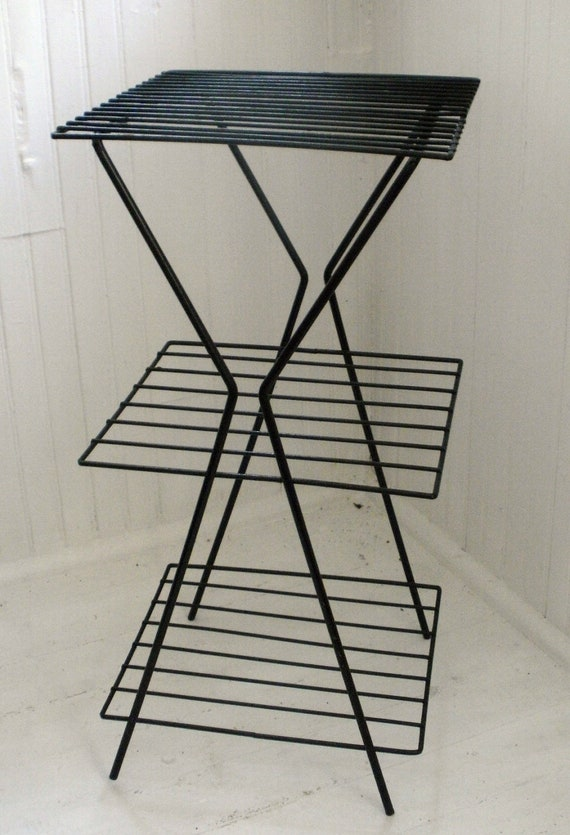 Vintage Induatrial Metal Plant/ Telephone stand, Industrial chic