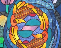 """Stain Glass Quilt Pattern """"Double the Blessings"""""""