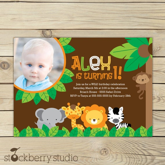 Jungle Safari Birthday Invitation Printable - Jungle Party - Safari Invitation - Safari Party - Safari Birthday Invitation - Zoo Birthday