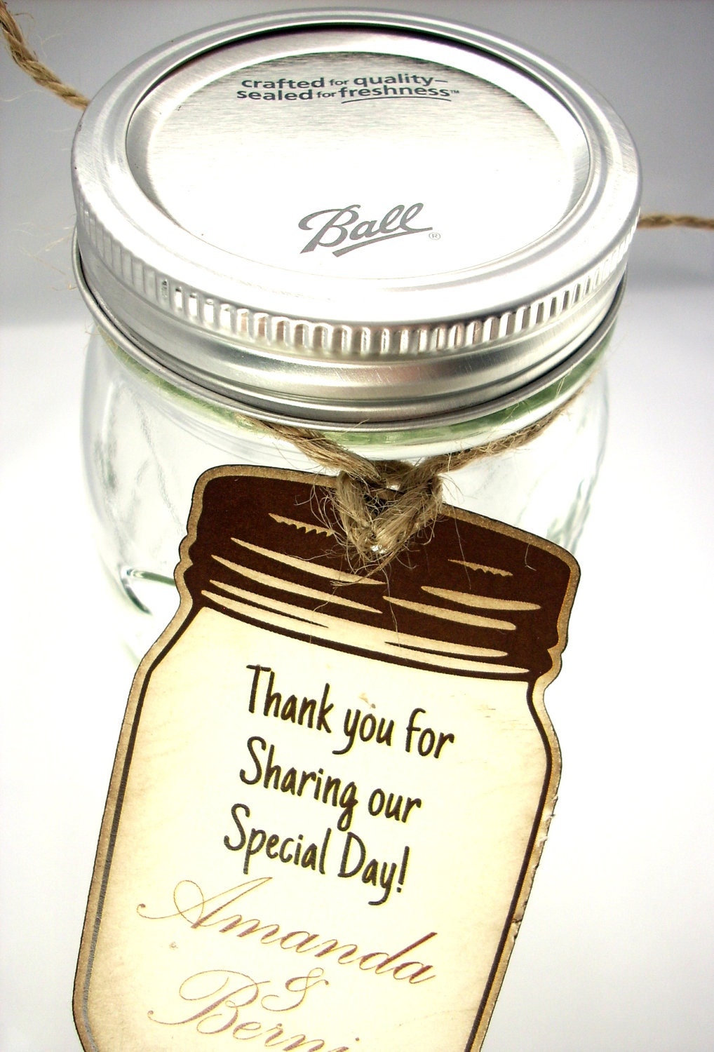 Wedding Favor Tags For Mason Jars : Chandeliers & Pendant Lights