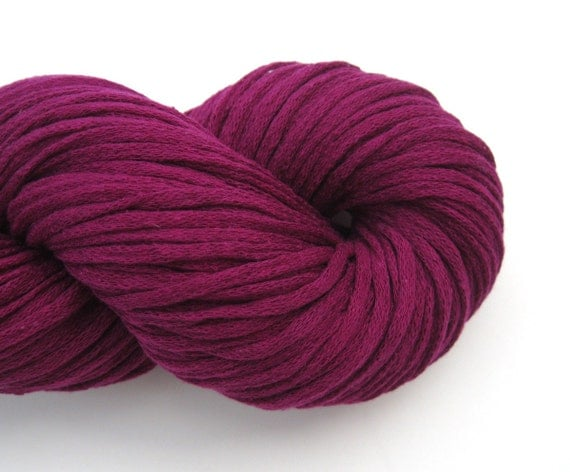 Sport Weight Silk Recycled Yarn Fuchsia by ThoughtfulRoseSupply