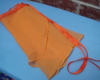 "Ballet Wrap Skirt, 13"" Adult, Orange"