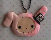 Large Handmade Sentimental Circus Shappo Pendant With Necklace.