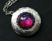 Dragon Breath Fire Opal Locket
