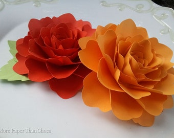 Paper Flowers - Wedding - Baby Shower - Birthday - X-Large - Set of 10 - Any Color - MADE TO ORDER