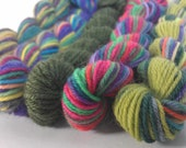 Mini Skeins Superwash Wool Fingering Weight Sock Yarn, 5 Skeins (Set MS-CC)
