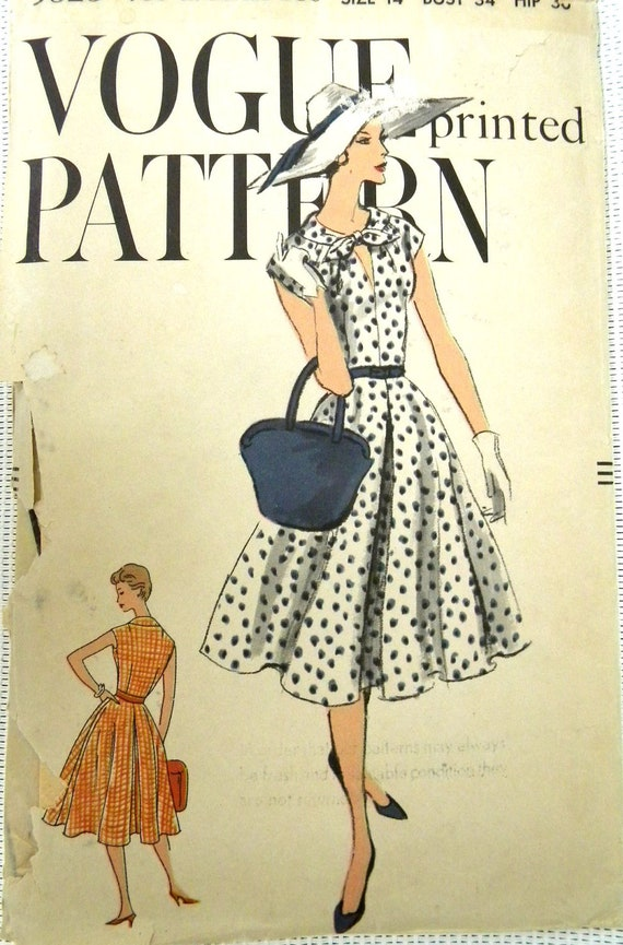 Vogue pattern 9525 from 1950s