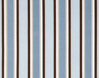 "Pillow Cover Cushion  20""x20"" terrace Stripe Mist  Putty Blue Chocolate"