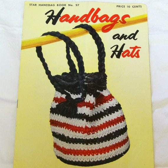 Vintage 1950s Handbag Hat Patterns Star book no. 97