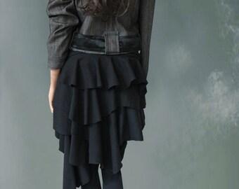 Womens cover up half skirt bumlero black by tratgirl