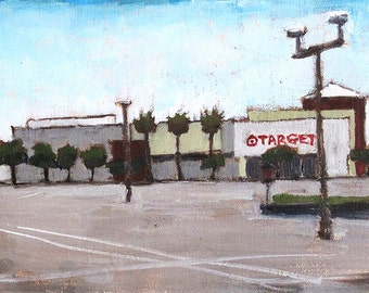 Mission Valley Target Store- Original Oil Painting