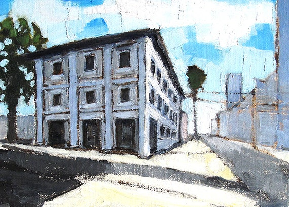 Little Italy, San Diego Painting, Victorian Building