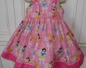 Disney Princess Pink Hearts & Bows Boutique Dress Size 2T 3T 4T 5 6