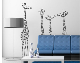Giraffe family Vinyl Lettering  animal Decal wall words graphics Home decor bedroom  itswritteninvinyl
