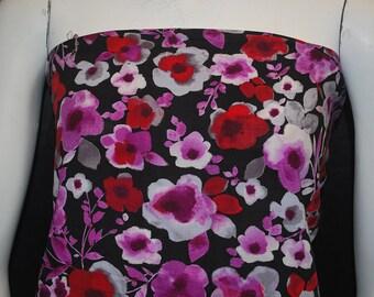 Rayon Challis Woven Fabric Natural Fiber Beautiful Flowers Print 100% Rayon