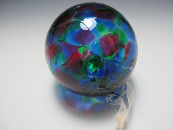 Blown Glass Ornament - Christmas Ornament - Suncatcher - Glass - Handmade - OOAK - Christmas In July