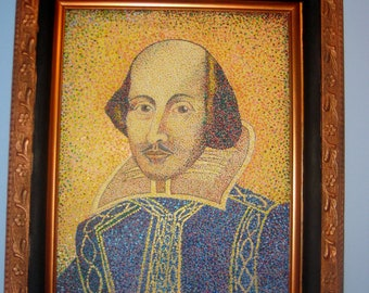 Shakespeare Portrait in Pointillism