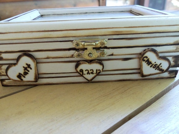 Rustic Personalized Keepsake Photo Box - Perfect for your Wedding Photo