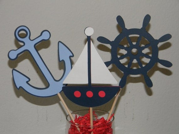 nautical theme centerpiece picks