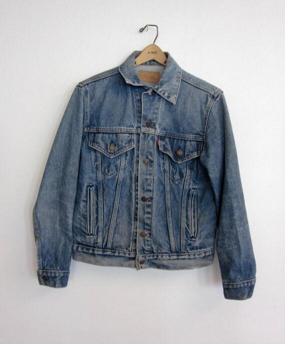 vintage LEVIS distressed jean jacket retro unisex