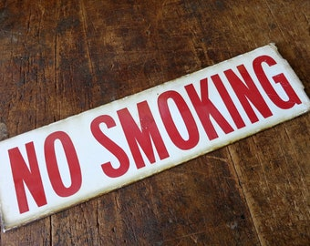 Antique Double Sided Enamel No Smoking Sign