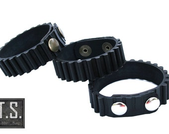 Groove upcycled auto rubber bracelet