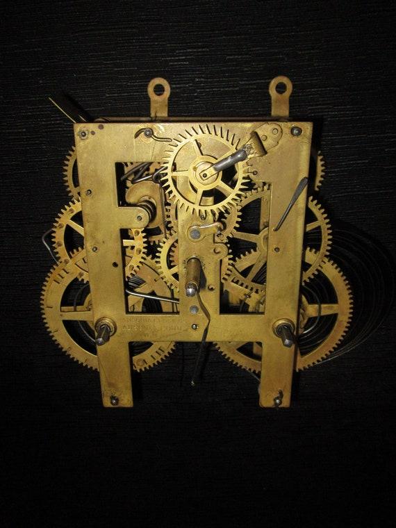 Antique Brass Ansonia Ct Clock Movement