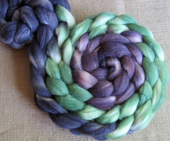Maleficent - SW Merino, Merino & Silk Roving - Hand Dyed - 4 oz