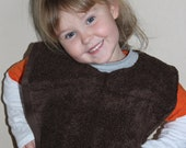 Brown and grey pullover bib
