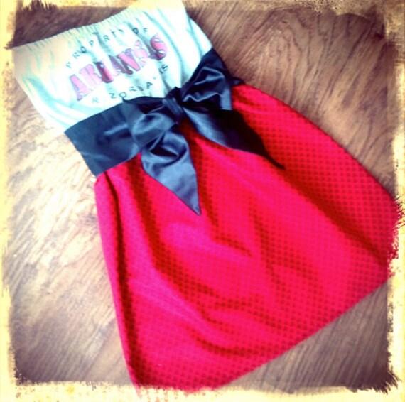Arkansas Razorbacks HOGS Gameday Tube Dress Gray Red Preppy Strapless Frock with Black Sash - L/XL