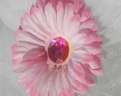 Pink Daisy Hair Clip