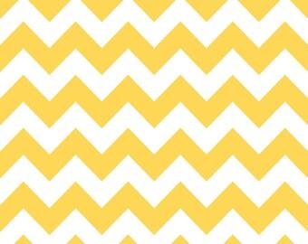 Riley Blake  Yellow Chevron- half yard