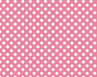 Riley Blake Small Dots- Hot Pink Polka Dots 1 Fat Quarter
