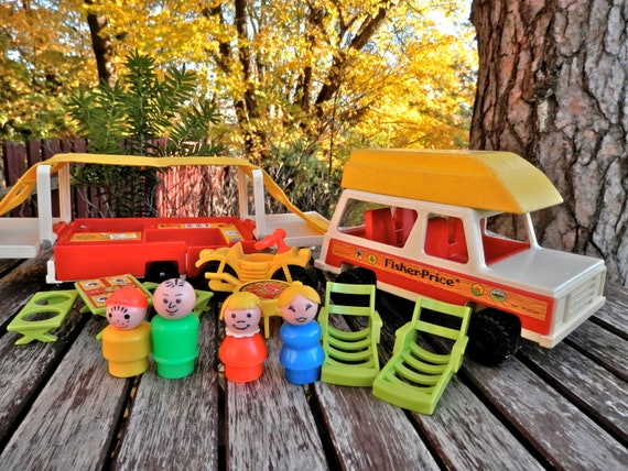 Fisher Price Pop-up Camper and Car
