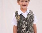 Mossy Oak vest, camo boy vest, Boys vest, camo vest, wedding vest,