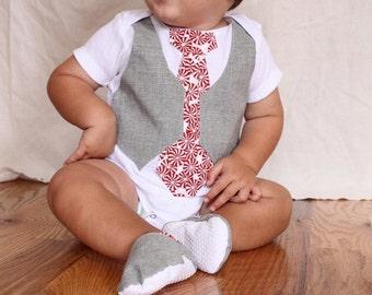 Baby boy Christmas shirt and shoes, Christmas Gift set, boy Christmas shirt with shoes