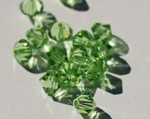 36 pieces - Peridot Swarovski Crystals 6mm Faceted Bicone - Beads Crystals Jewelry Supply Green