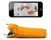 iPhone 5 case / cover YELLOW gold / silver - FREE DELIVERY - Duchess case for iPhone