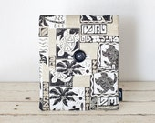 "iPad  Mini Retina Case, iPad Mini Sleeve, iPad Mini Cover  - ""Honu Kai"" - Padded, Pocket & Button - Tiki, Tropical, Turtle, Palm Tree, Brown"