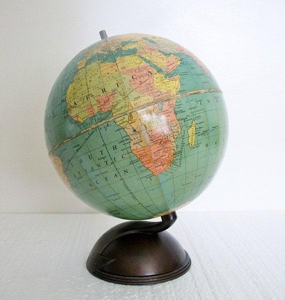 Vintage Globe Rare 1934 Big Dipper Replogle - Radio Stations - Pre-WW2