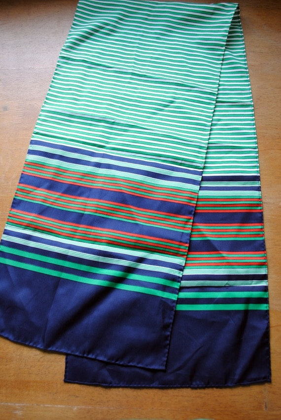 Kelly Green and Navy Striped Sash