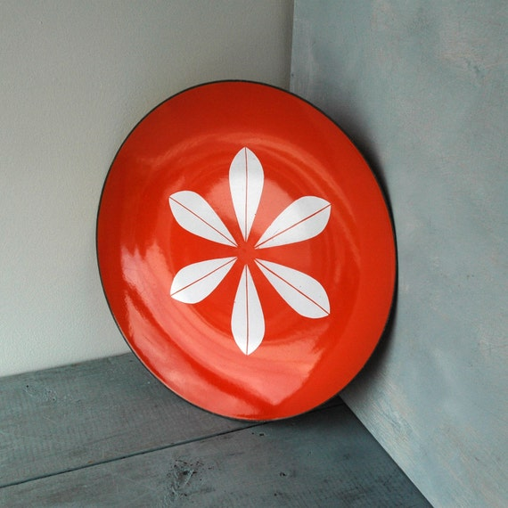 Large Orange Cathrineholm Plate