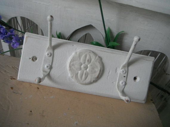wood wall hanger wall hooks coat hooks shabby chic french country rustic cottage distressed