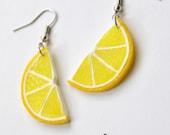 Lemon halves earrings