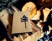 Loblolly Pine Tree Journal Pocket Size Moleskine Notebook using Hand Carved Design Christmas Stocking Stuffer Men Gift Present Nature