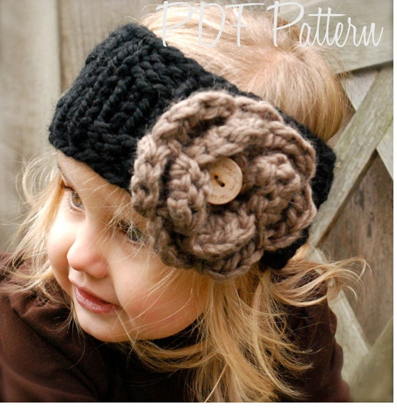 Knitting PATTERN-The Lola Warmer (Toddler, Child, and Adult sizes)