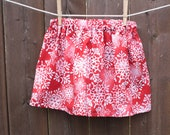 Snowflakes baby and toddler skirt  sizes 12 months, 18 months,