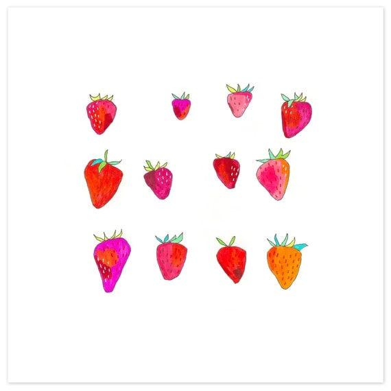 Farmers Market Print 5 - Strawberries