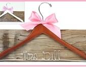 SALE CHOOSE from 47 ribbon colors, Personalized Custom Bridal Hanger, Brides Hanger, Bride, Name Hanger, Wedding Hanger