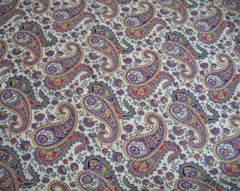 Purple Paisley Feedsack